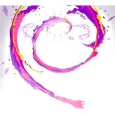 手绘彩色线条元素