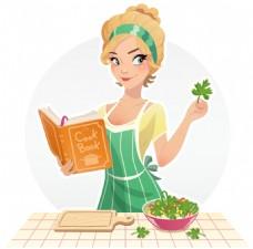做饭的家庭主妇