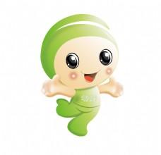 绿色幼芽儿童可爱卡通形象