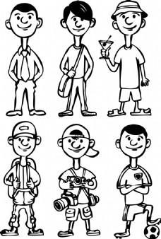 手绘漫画人物插画
