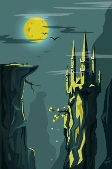 童话里的城堡插画