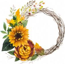 黄色太阳花植物背景