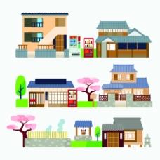 现代小区建筑房屋矢量素