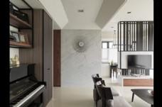 美式客厅背景墙效果图