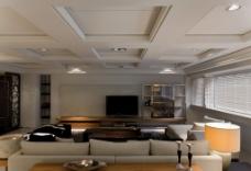 现代大客厅背景墙效果图