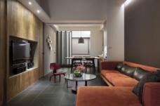 欧式简约客厅背景墙效果图