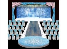 冰雪主题婚礼舞台