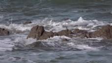 水浪风景石头视频