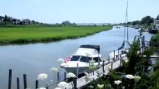 城市河流风景视频