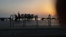 夕阳风景视频素材