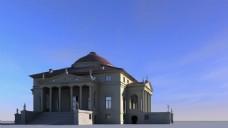 欧式花纹建筑视频