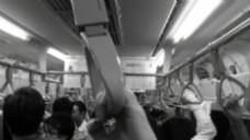 人物地铁乘车视频