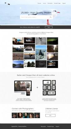 图片摄影类网站首页设计