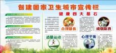 创建国家卫生城市宣传栏