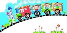 火车上的儿童