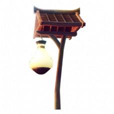 复古木架路灯元素