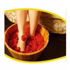 足浴玫瑰泡脚元素