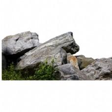 假山岩石风景元素