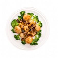 炒菜花菜鸡肉元素