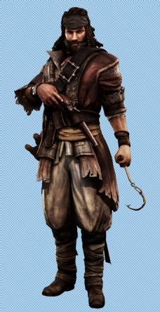 海盗角色免抠png透明图层素材