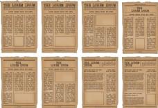 怀旧报纸宣传单模板素材