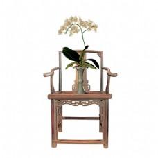 中式高椅花瓶元素