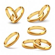 5款质感金色戒指设计矢量素材