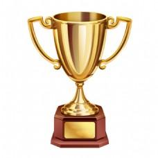 金色奖杯实物元素