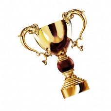 金色奖杯花纹元素