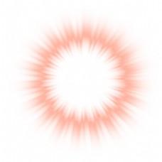 粉色光圈png元素