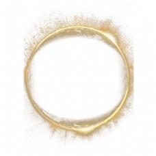 金色发光圆圈png元素