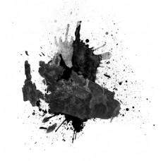 黑色水墨png元素