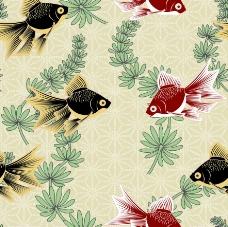 古典花纹鱼图案