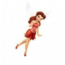 卡通红衣天使元素