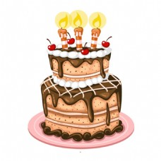双层蛋糕节日生日元素