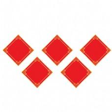 手绘红色几何元素