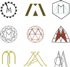 多种M的设计图案
