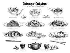 手绘中式餐饮插画