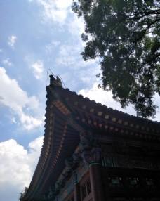 华清宫殿屋檐角