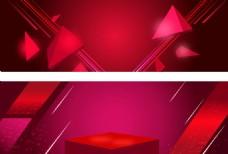 几何红色背景