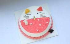 招财猫奶油蛋糕
