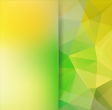 黄绿渐变炫彩多边形几何背景