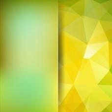 黄绿渐变清新唯美多边形几何背景