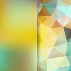 多彩渐变炫彩多边形几何折页背景