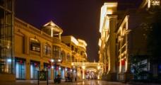戛纳湾 城市夜景