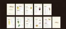 饮品奶茶价目表 水吧菜单画册