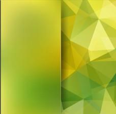 黄绿渐变唯美多边形几何折页背景