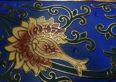 寺庙吊顶彩绘天花横梁板