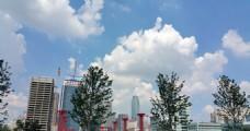 沈阳市府广场 蓝天 白云