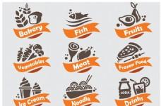 水果甜品标签